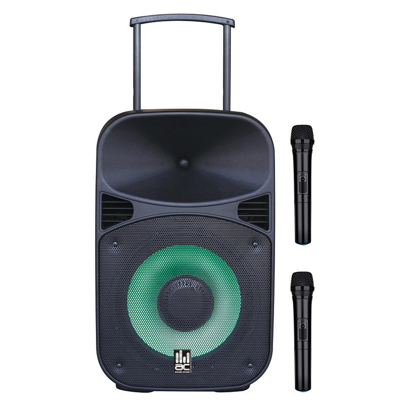 בידורית קריוקי Bluetooth עם 2 מיקרופונים