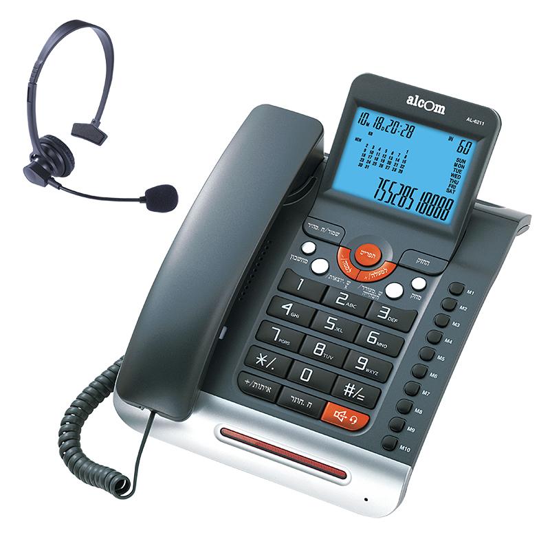טלפון שולחני חכם עם צג ענק ומערכת ראש