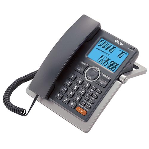 טלפון שולחני עם צג רחב ושיחה מזוהה